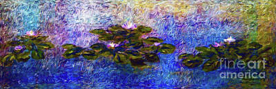 Water Lilies An Impression Poster by Jerome Stumphauzer
