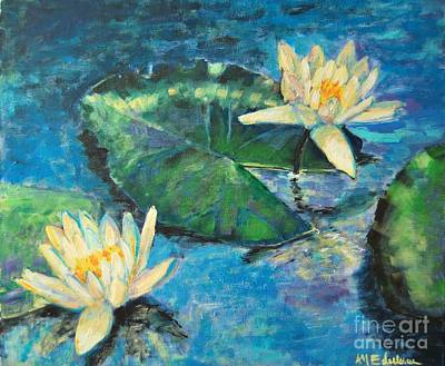 Poster featuring the painting Water Lilies by Ana Maria Edulescu