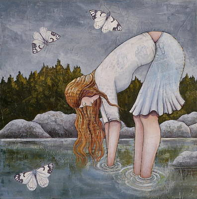 Poster featuring the painting Water Prayer by Sheri Howe