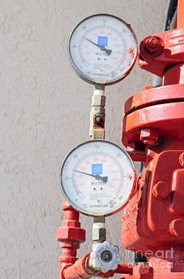 Water Pressure Gauge  Poster