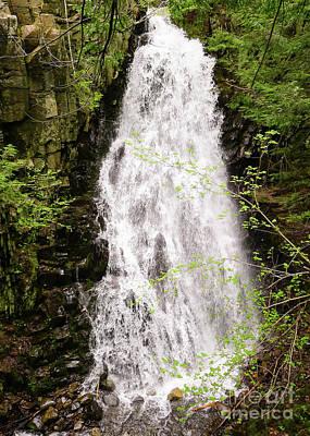 Water Roaring Down Cascade Falls, Farmington, Maine  -30377 Poster
