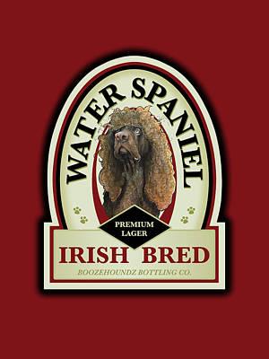 Water Spaniel Irish Bred Premium Lager Poster