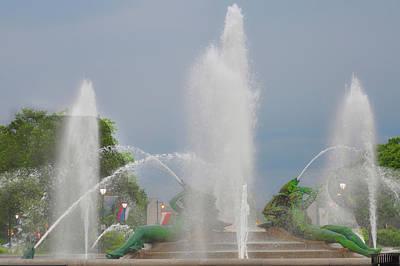 Water Spray - Swann Fountain - Philadelphia Poster by Bill Cannon