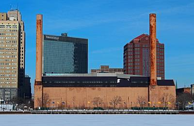 Water Street Steam Plant In Winter Poster by Michiale Schneider