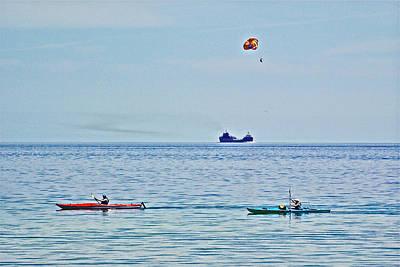 Water Transportion On Lake Huron Around Mackinac Island-michigan Poster