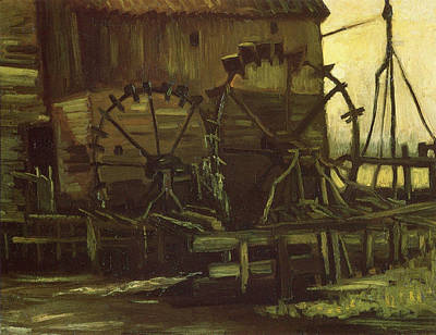 Water Wheels Of Mill At Gennep, 1884 Poster