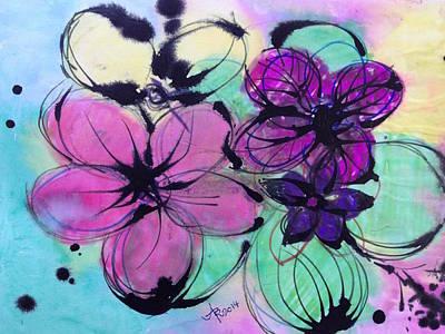 Watercolor And Ink Haiku  Poster