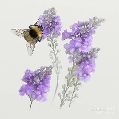 Watercolor Bumble Bee Poster