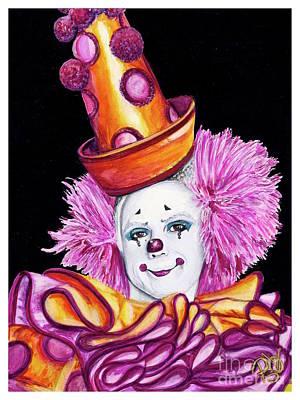 Watercolor Clown #26 Victor Ruiz Poster by Patty Vicknair