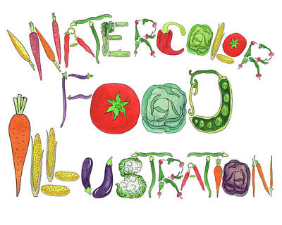 Watercolor Food Illustration  Poster