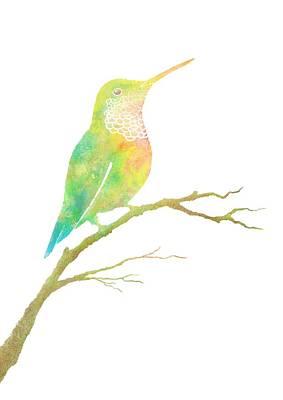 Watercolor Hummingbird Poster
