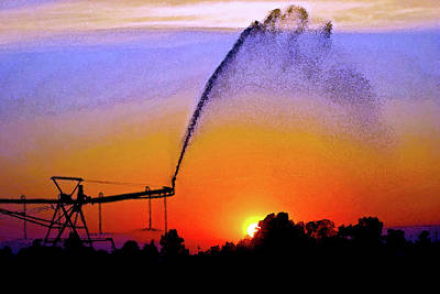 Watercolor Irrigation Sunset 3243 W_2 Poster