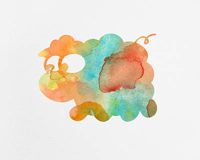 Watercolor Lamb For Nurseries Poster by Nursery Art