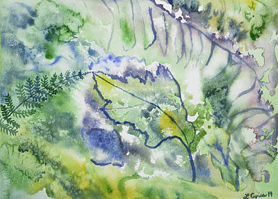 Watercolor - Leaves And Textures Of Nature Poster