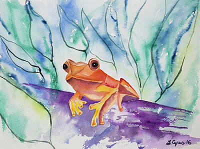 Watercolor - Tropical Frog Poster by Cascade Colors