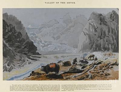 Watercolour Drawing Of Yarkand And Kashgar Poster