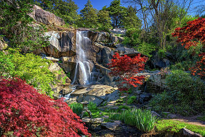 Poster featuring the photograph Waterfall At Maymont by Rick Berk