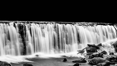 Waterfall At Night Poster by Wayne King