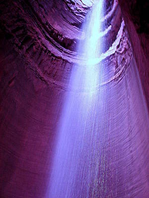 Waterfall At Ruby Falls Poster