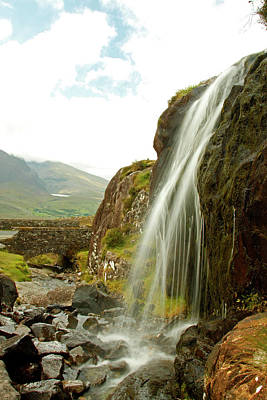 Waterfall At The Conor Pass Poster