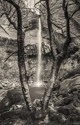 Waterfall At Upper Emerald Pool Poster