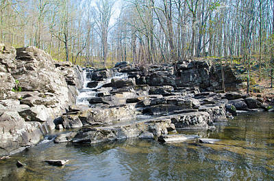 Poster featuring the photograph Waterfall At Wickecheoke Creek by Bill Cannon