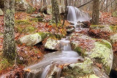 Waterfall Atop Petit Jean Mountain - Arkansas - Nature Poster by Jason Politte