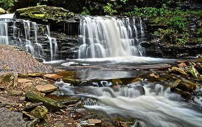 Waterfall Found In Ricketts Glen Poster