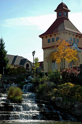 Poster featuring the photograph Waterfall Frankenmuth Mich by LeeAnn McLaneGoetz McLaneGoetzStudioLLCcom