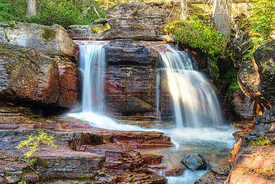 Poster featuring the photograph Waterfall by Gary Lengyel
