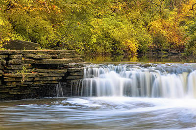 Poster featuring the photograph Waterfall Glen, Lemont, Il by Adam Romanowicz