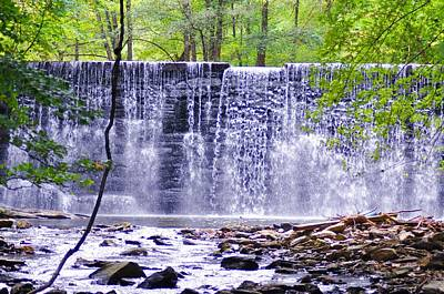 Waterfall In Gladwyne Poster by Bill Cannon