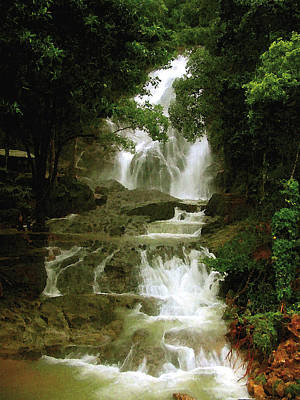 Waterfall In Thailand Poster by Pascal VERSAVEL