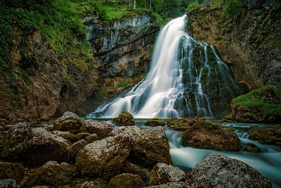 Waterfall Poster by Martin Podt
