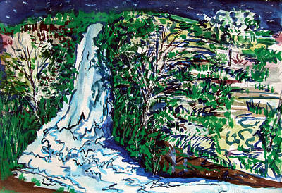 Waterfall Poster by Mindy Newman