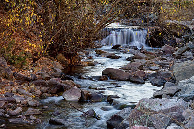 Waterfall On Beautiful Boulder Creek Poster by James BO Insogna