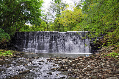 Waterfall On The Main Line - Gladwyne Pa Poster by Bill Cannon