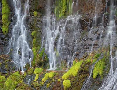 Waterfall Pattern Poster by Jean Noren