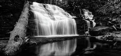 Waterfall Reflection Poster