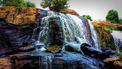 Waterfall Vivid Poster