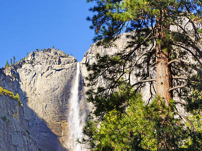 Waterfall Yosemite Poster by Lutz Baar