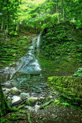 Waterfalls Finger Lakes New York 01 Poster by Thomas Woolworth