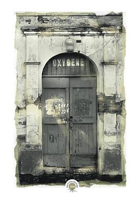 Waterfront Doorway Cap Haitian Poster by Bob Salo
