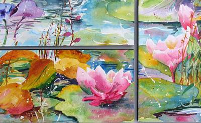 Waterlillies Triptych Poster