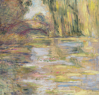 Waterlily Pond, The Bridge Poster by Claude Monet