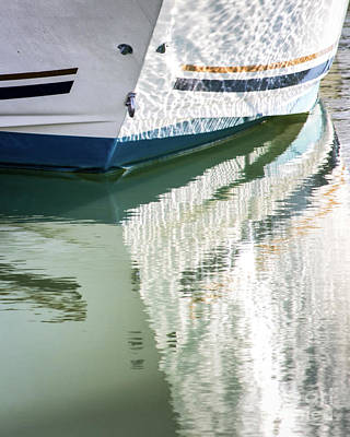 Waterline Reflections Poster by Robert Anastasi