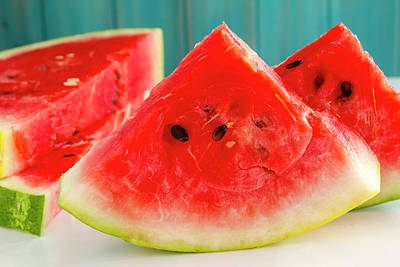 Watermelon For Summer Poster by Teri Virbickis