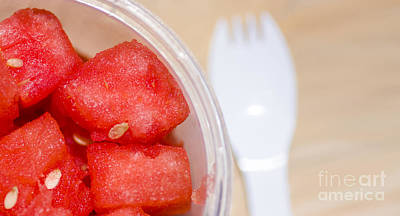 Watermelon Slices Served Horizontal Poster