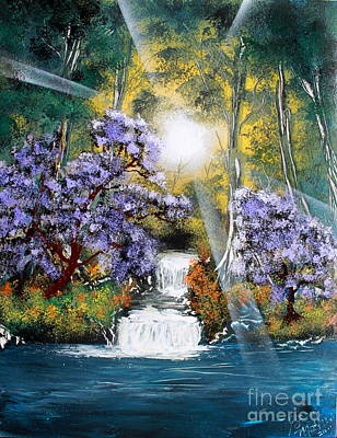 Poster featuring the painting Waters Edge by Greg Moores