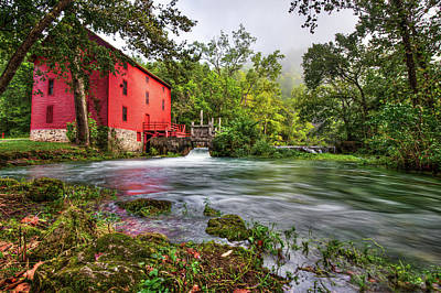 Waters Of Alley Spring Mill  Poster by Gregory Ballos